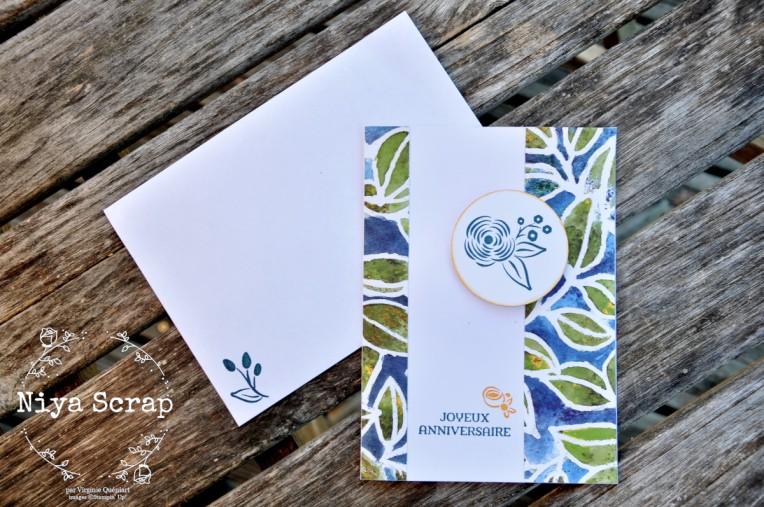 Carte d'anniversaire + enveloppe - Silhouette évasive Stampin' Up!