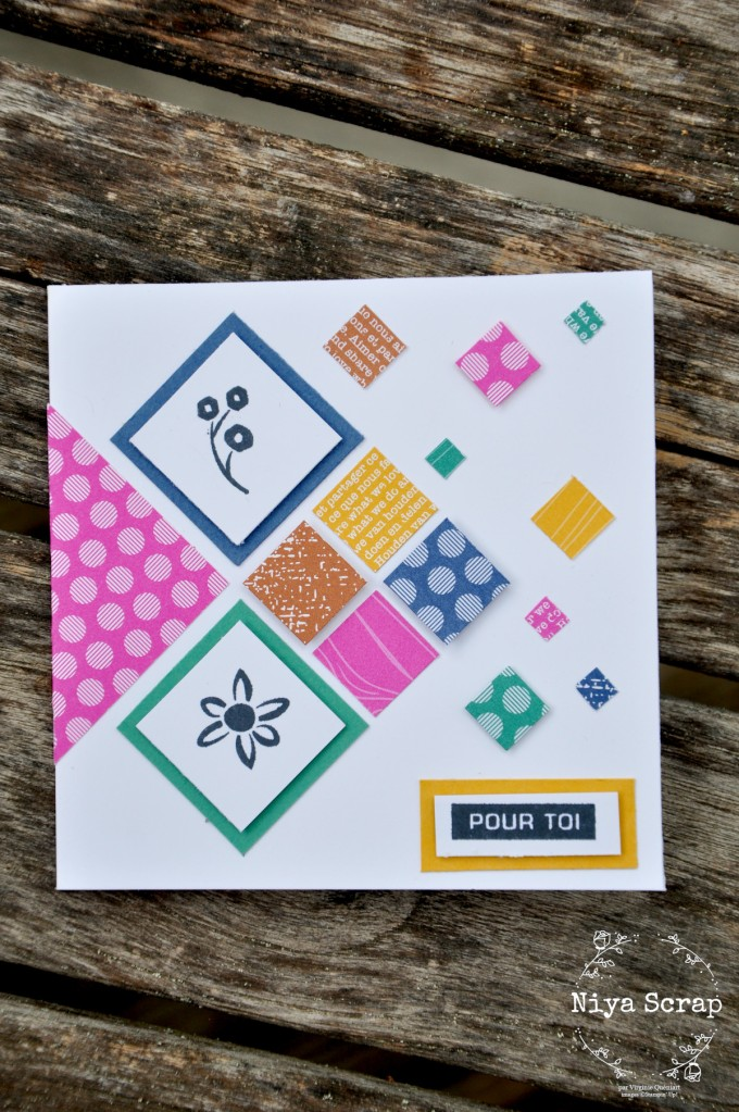 Carte carrée - In color 2020-2021- Stampin' Up!