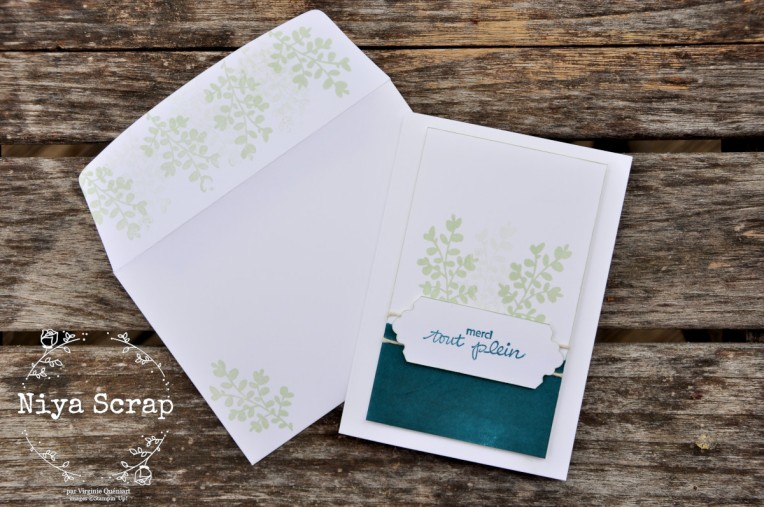 Carte simple mais pimpante - Stampin' Up!