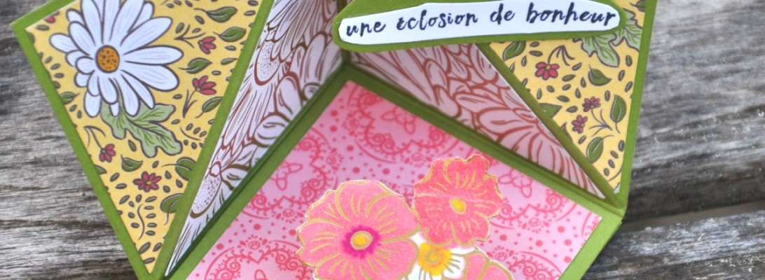 Carte Pop Up Fleurie - Matériel Stampin' Up!