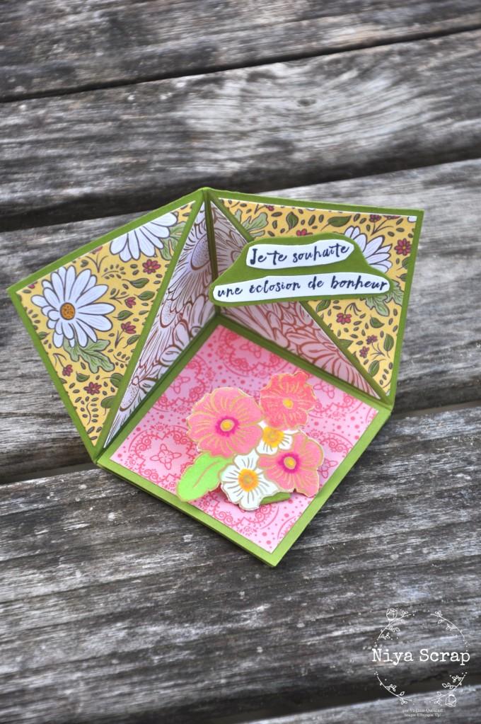 Carte Pop Up Fleurie - Matériel Stampin' Up!