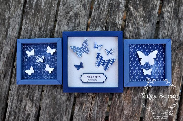 Tableau triptyque Papillons de papier - Matériel Stampin' Up!