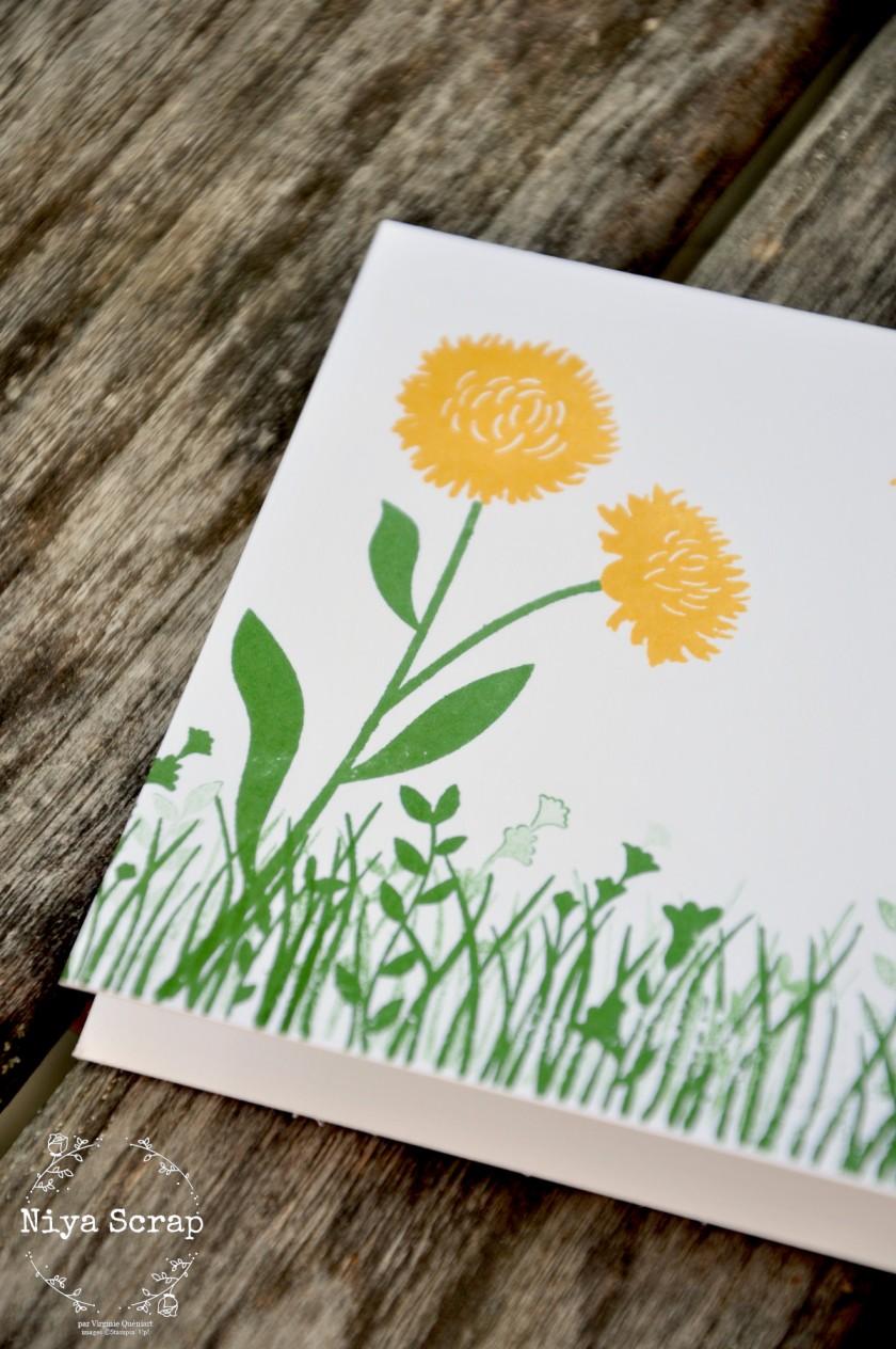 Niya Scrap - Carte Champ de fleurs #simplestamping - matériel Stampin' Up!