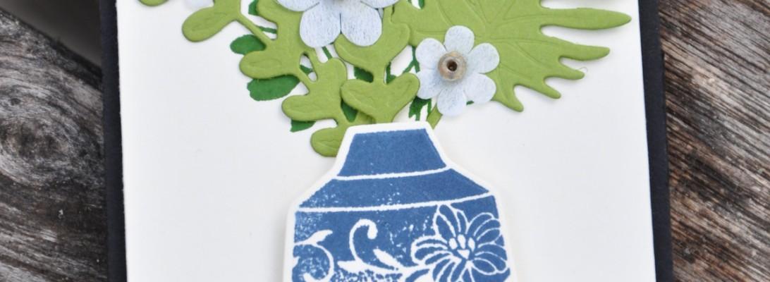 Niya Scrap - Carte pop-up Vases Bohèmes - matériel Stampin' Up!