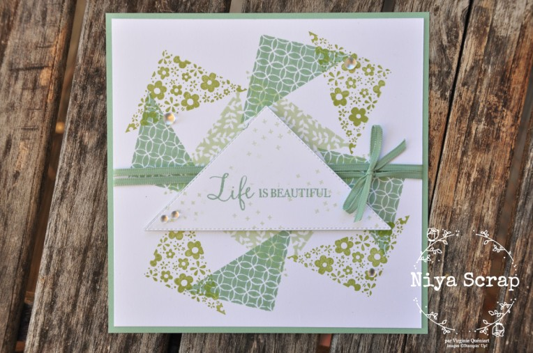 Niya Scrap - Carte Triangles en folie - Lot The right triangle - blog hop - matériel Stampin' Up!