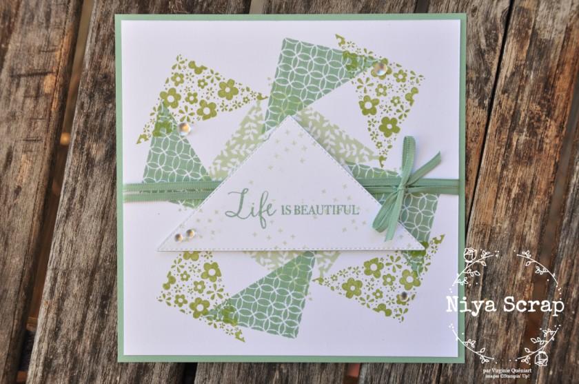 Niya Scrap - Carte Triangles en folie - Lot The right triangle - blog hop - matériel Stampin' Up!