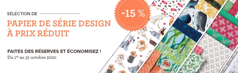 Promotion - Papier Série Design Stampin' Up! - du 1 au 31 octobre 2020