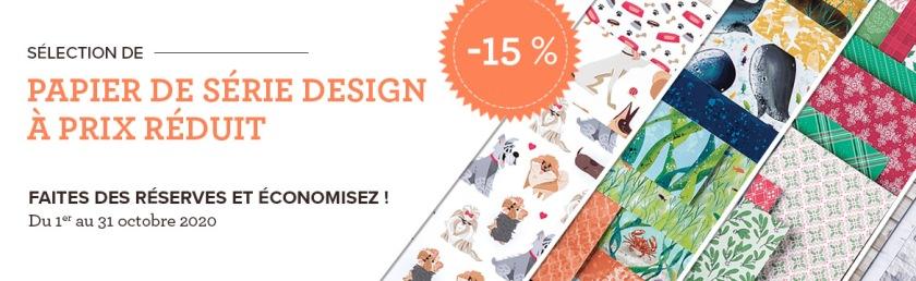 Promotion - Papier Série Design Stampin' Up! - du 1 au 31 octobre 2020