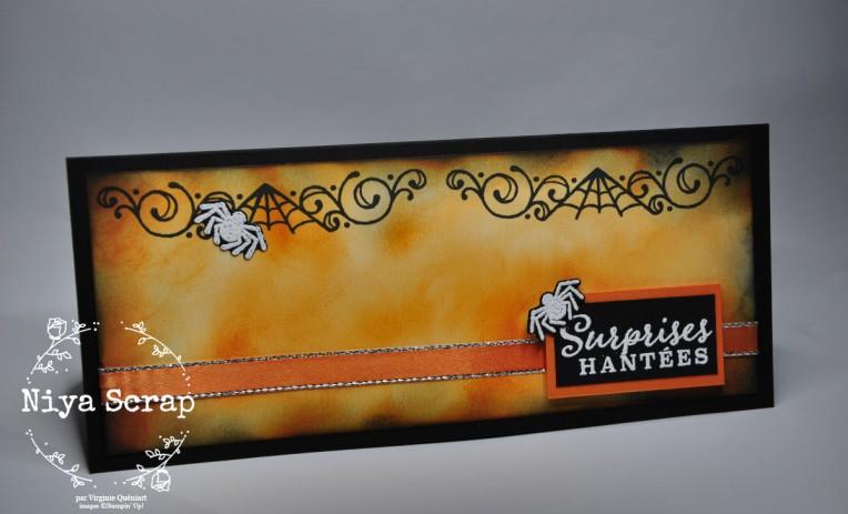Niya Scrap - Carte Halloween Tarte au Potiron - matériel Stampin' Up!