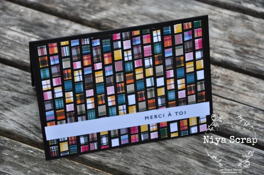 Niya Scrap - Carte Mosaïque - matériel Stampin' Up!