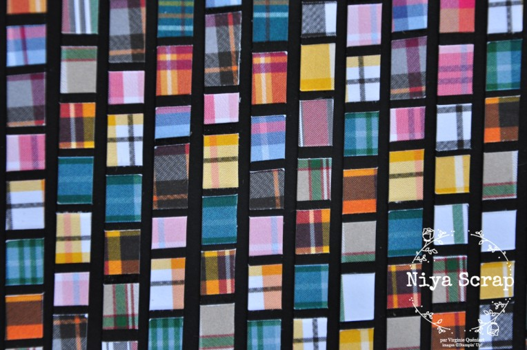 Niya Scrap - Carte Mosaïque - matériel Stampin' Up! - détail