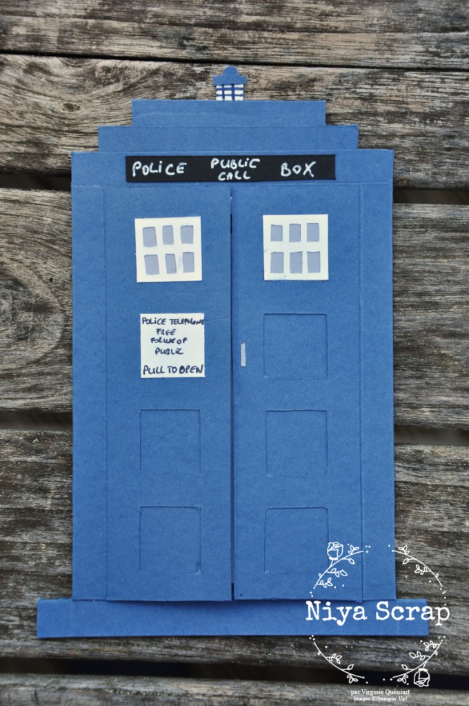 Niya Scrap - Carte Tardis Dr Who - matériel Stampin' Up!
