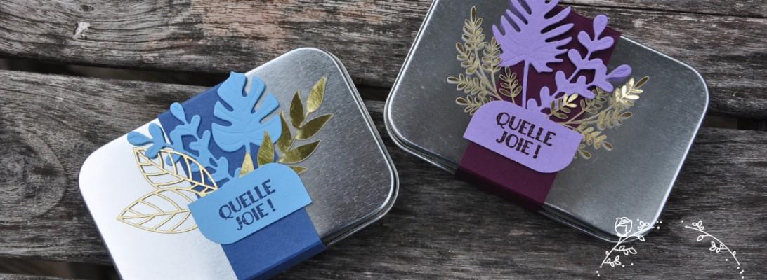 Niya Scrap - Coffrets métalliques cadeaux - Matériel Stampin' Up!