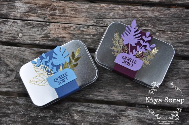 Niya Scrap - Coffret métallique cadeau - Matériel Stampin' Up!