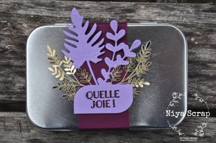 Niya Scrap - Coffret métallique cadeau violet - Matériel Stampin' Up!