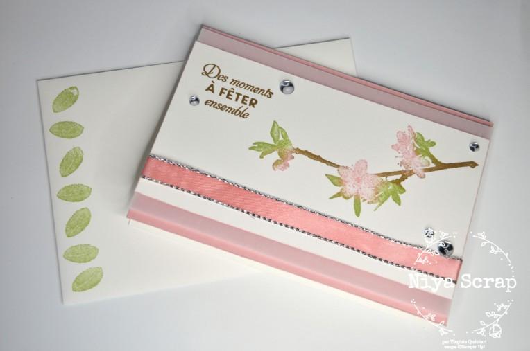 Niya Scrap - Carte Fleurs de cerisier- matériel Stampin' Up!