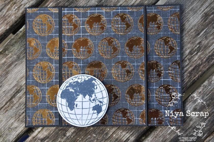 Niya Scrap - Carte Monde meilleur - matériel Stampin' Up!