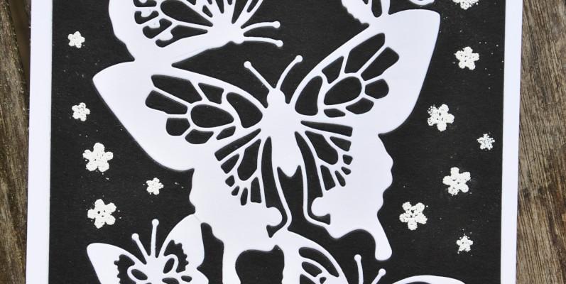 Niya Scrap - Carte Noir et Blanc - matériel Stampin' Up!