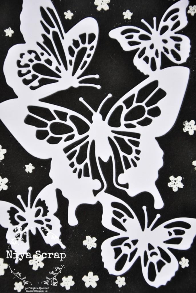 Niya Scrap - Carte Noir et Blanc - matériel Stampin' Up! - détail