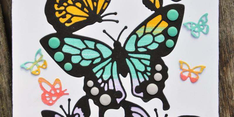 Niya Scrap - Carte Papillons arc-en-ciel - matériel Stampin' Up!