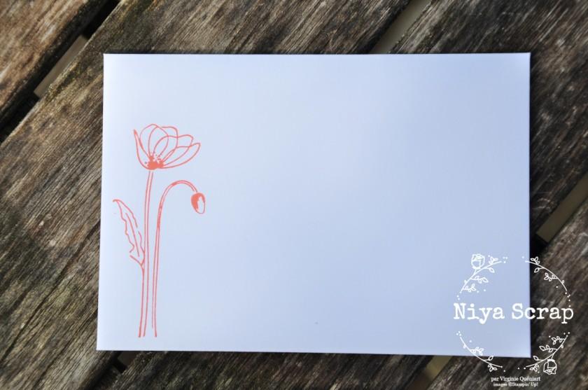 Niya Scrap - Carte Coquelicots - débutant - matériel Stampin' Up!