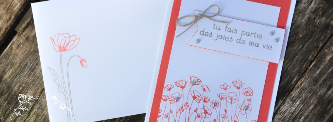 Niya Scrap - Carte Coquelicots - occasionnel - matériel Stampin' Up!