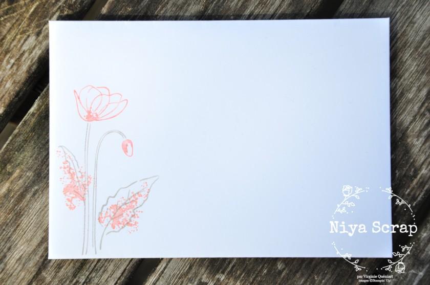 Niya Scrap - Carte Coquelicots - passionné - matériel Stampin' Up!