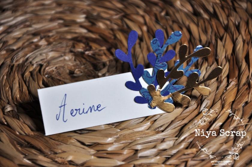 Niya Scrap - marque-place - Décoration de table de Noël - Blog Hop Sweet Ladybirds - matériel Stampin' Up!