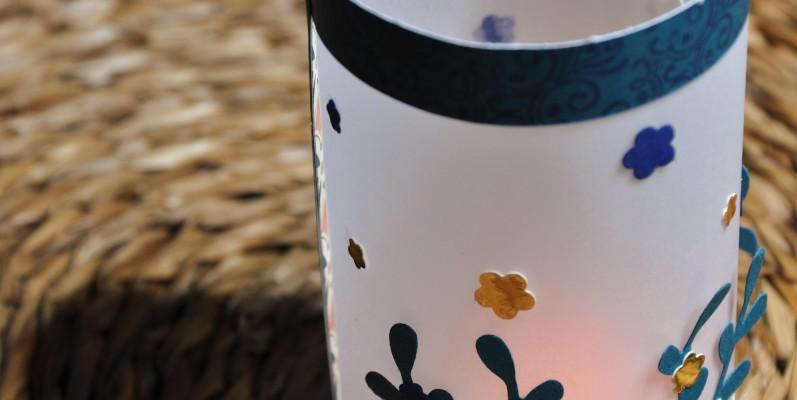 Niya Scrap - photophore - Décoration de table de Noël - Blog Hop Sweet Ladybirds - matériel Stampin' Up!