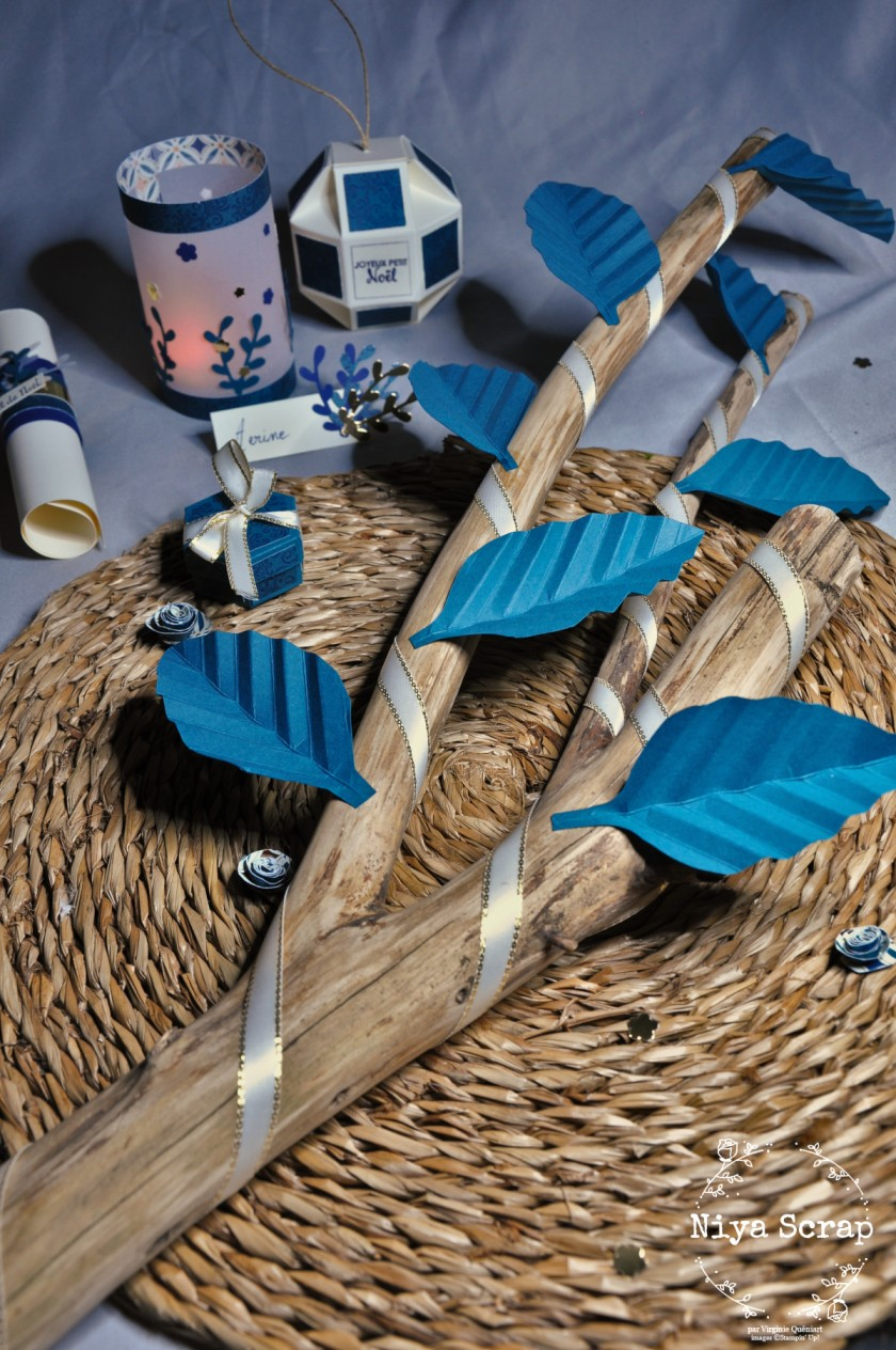 Niya Scrap - Décoration de table de Noël - Blog Hop Sweet Ladybirds - matériel Stampin' Up!
