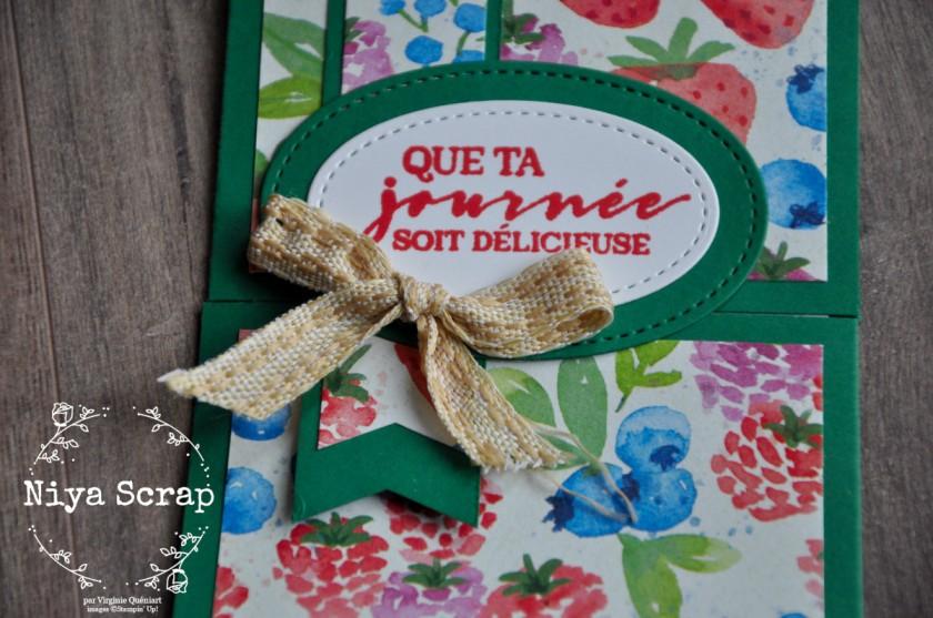 Niya Scrap - Carte envie de fraises - Qui Scrappe me Suivre Janvier 2021 - matériel Stampin' Up!