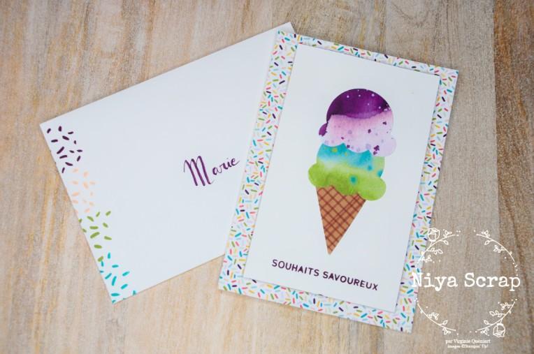 Niya Scrap - Carte Souhaits Savoureux - matériel Stampin' Up!