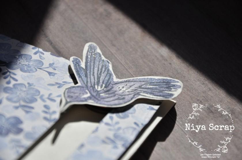 Niya Scrap - Carte Colibri Bleu - Qui Scrappe me Suive Février 2021 - matériel Stampin' Up!