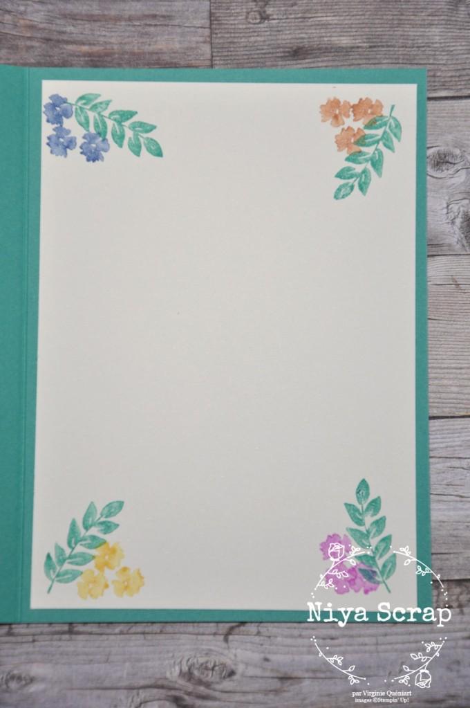 Niya Scrap - Carte Bouquet en coin - Matériel Stampin' Up!