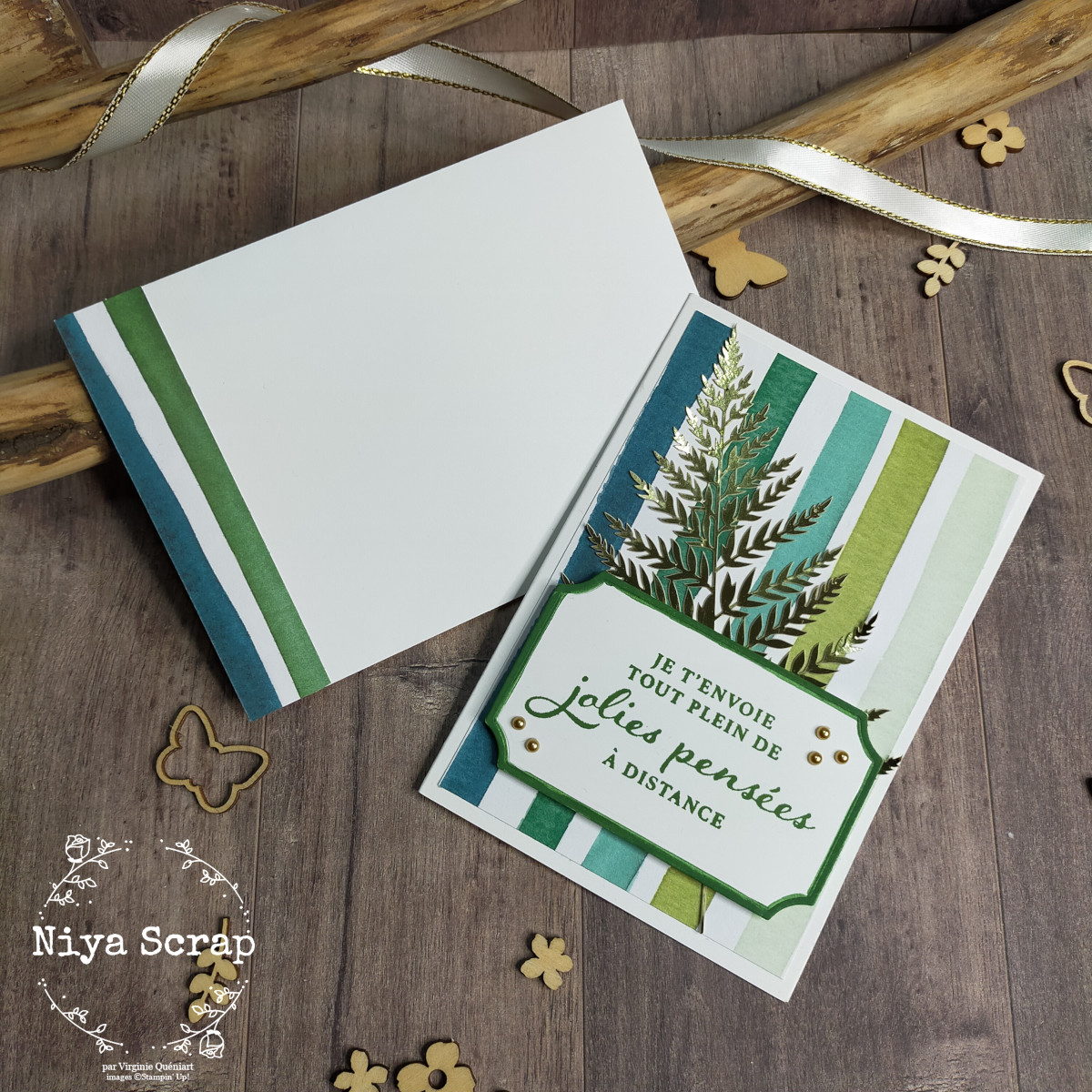 Niya Scrap - coffret végétal de 6 cartes - Matériel Stampin' Up!