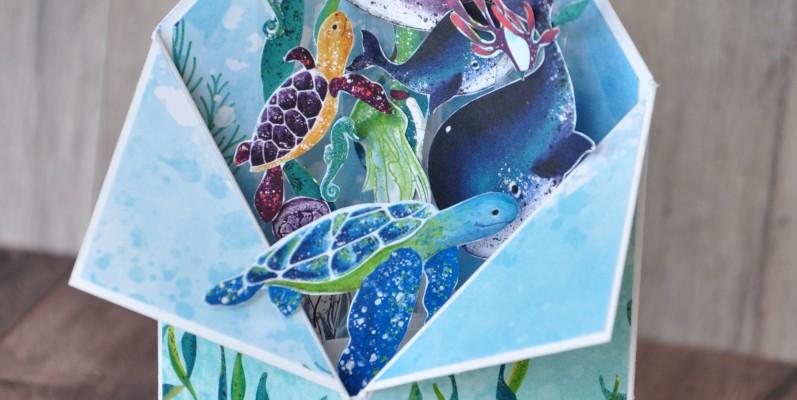Niya Scrap - Carte Tuxedo - sous l'océan - Blog Hop des Sweet Ladybirds - Matériel Stampin' Up!