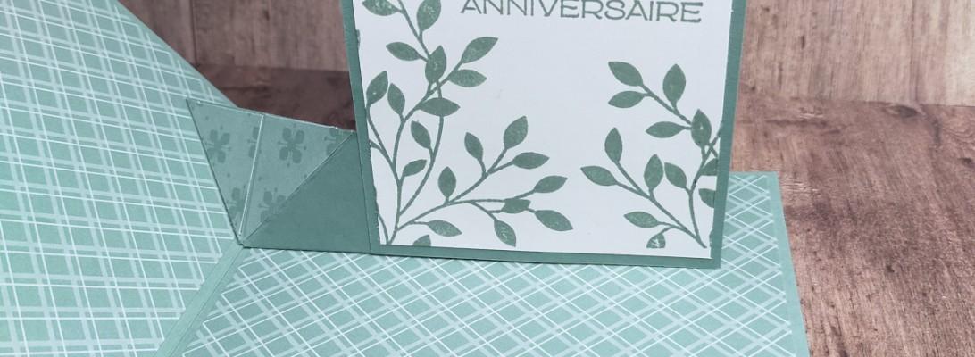 Niya Scrap - Carte anniversaire - Pop Up Surprise - Qui Scrappe me suive Mai 2021 - Matériel Stampin' Up!