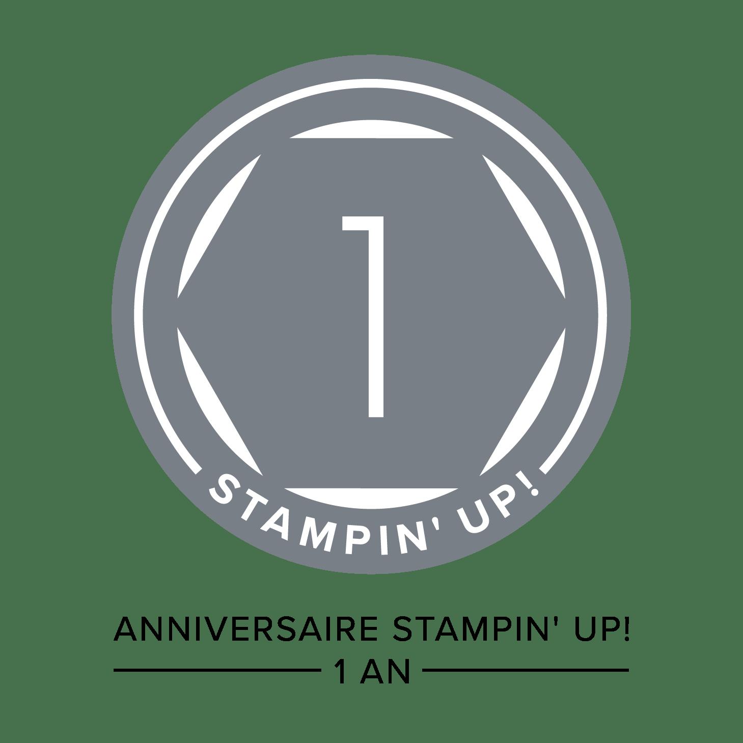 Badge 1 an chez Stampin' Up!